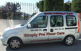 Simply Pro Floor care, stone floor cleaning, polishing, restoration and repairs, Costa Blanca South and Murcia Spain